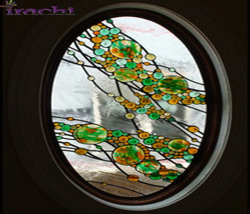 شیشه-تزیینی-پنجره-طرح-حباب