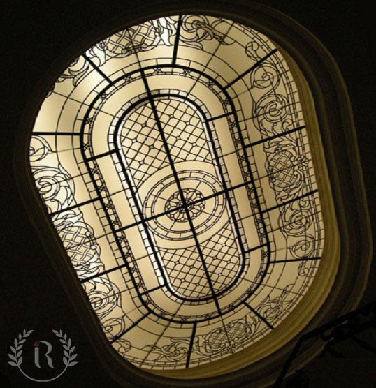 نور گیر سقفی شیشه ای استین گلاس